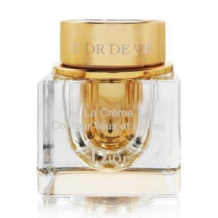 Christian Dior L 'Or De Vie La Creme Yeux creme für Augen und Lippenkontur 15ml/Augencreme