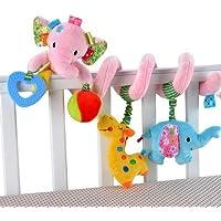 Cot Toys Elepant Baby Krippe Kinderwagen Spiral RattlesToys Kinderwagen Hängende Spielzeug Autositz Spielzeug (Rosa) preisvergleich bei kleinkindspielzeugpreise.eu