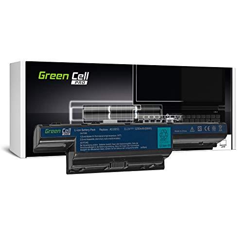 GC® PRO Serie Laptop Akku für Gateway NV53A NV53A11u NV53A24U NV53A52U NV55C NV55S NV57 (Samsung SDI Zellen 5200mAh 10.8V Schwarz) (Gateway Laptop Nv53a52u)