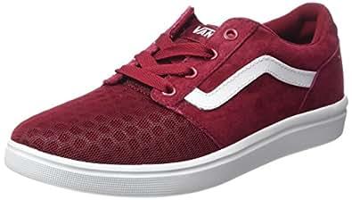 2616ec9bfadba2 Vans Men s Chapman Lite Lace-Up Sneakers Red ((Mixed) burgundy white ...