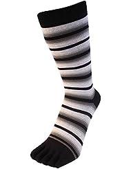 Thin Striped Toe chaussettes d'homme essentiels de Toe Toe
