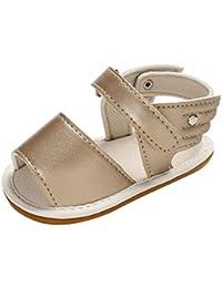 LUCKYCAT Sandales d été Bébé, Prime Day Amazon Chaussures de bébé Filles  Garçon Chaussures à Semelle Souple Chaussures en Cuir… 26835aae0b0e