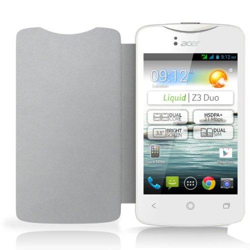 Acer HP.OTH11.009 - Funda con tapa para Acer Z3 (neopreno), color blanco