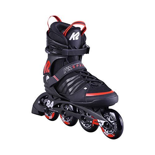 K2 Herren F.I.T. 84 Speed Alu Skateboardschuhe Schwarz (Black/Red 001) 46 EU