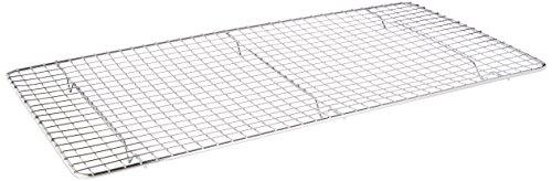 Kommerzielle Wire (Update International Cross-Wire Gitter Kühlrost Draht Pfannen Rost Backen Rack Verchromter Stahl Rechteckform 6 Füße kommerzielle Qualität Full Size 25,4 x 45,7 cm)
