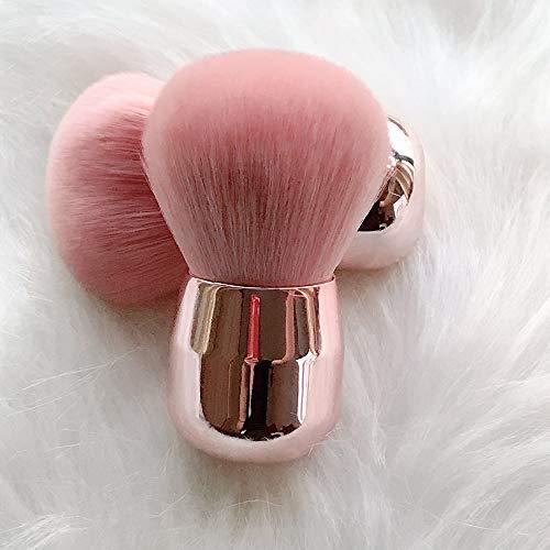 DDameinv Miel en Polvo Cepillo en Polvo Cepillo en Polvo Cabeza de Seta Pincel de Maquillaje Rosado Pincel de Pelo Suave Chica corazón Neta Pincel de Maquillaje Rojo