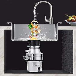 Broyeur de déchets Alimentaires,en Acier Inoxydable Facile à Installer,Cuisine évier Silencieux,33 * 15 cm,220V,400W,2800 RPM