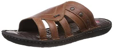 Lee Cooper Men's Brown Leather Sandals and Floaters - 7 UK