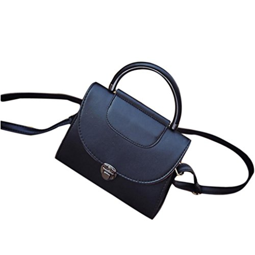 Fashion Bag Candy Messenger Bags Female Handbag Shoulder Bag Flap Women Bag by Kangrunmy Nero