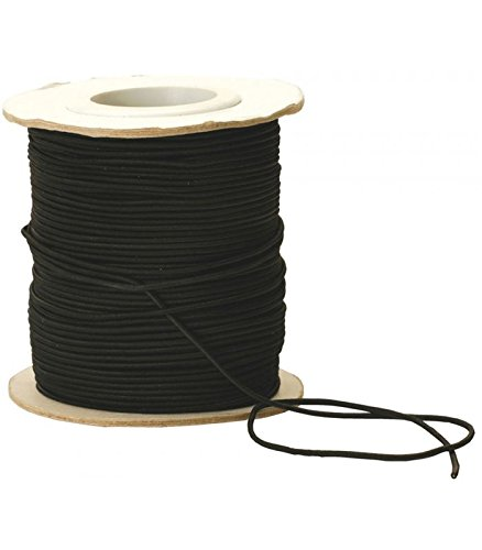 Shock Cord Elastic Strong Stretchy Camping Tent Pole Repair Elastic 2.5mm x 100m Black 1