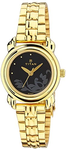 Titan Women's Analog Black Dial Watch
