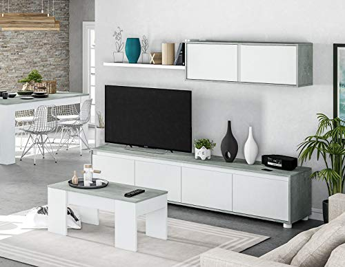 HABITMOBEL Pack Salon Completo: Mueble salón + Mesa de Centro + ...