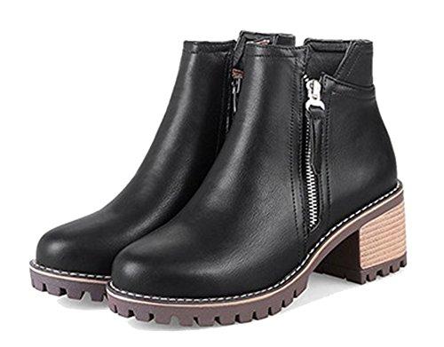 Femme Dorteil Ageemi Bottes À Zip Shoes Noir Talon Pointu Fermeture PHnRxZx