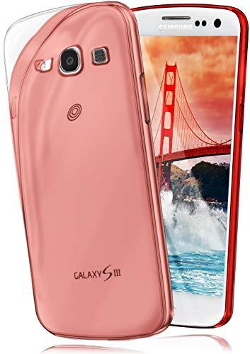 moex® Ultra-Clear Case [Vollständig Transparent] passend für Samsung Galaxy S3 / S3 Neo | rutschfest und extrem dünn - Fast unsichtbar, Rot