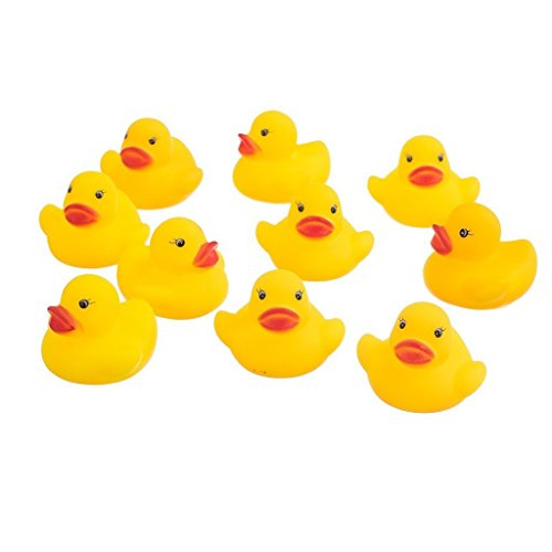 Badente Quietschende Enten Kinder Bad Spielzeug Baby Dusche Spielzeug Squeeze wird klingen Für Baby Dusche Schwimmdock 100 Stück Gelb ()