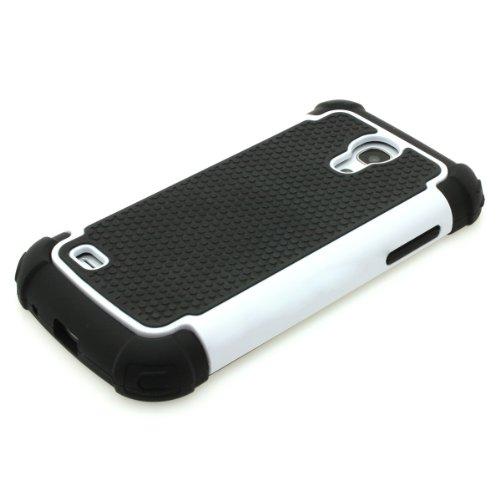 ProBagz-Silicone e TPU Custodia Bumper per Samsung Galaxy S4Mini i9190/i9195, colore: bianco
