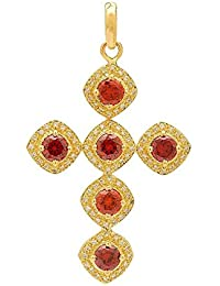 PeenZone 18k Gold Plated Criss-Crossed Pendant For Women & Girls