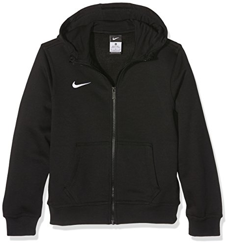 Nike Team Club FZ Hoody Sweatshirt Team Club Full Zip- Felpa con cappuccio Bambini, Nero (Black/Black/Football White), taglia produttore M