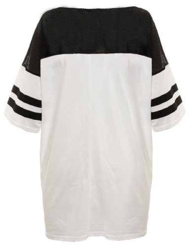 football trikot damen Damen-T-Shirt, American Football-Top 87, Chicago-Wolfendruck, Verschiedene Kollektionen, Gr. S/M (UK 8-10), Weiß