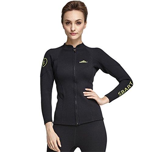 SANANG Damen 2MM Neopren Wetsuit Tops Langarm Swimsuit Shirt Anti-UV Spearfishing Swim Tauchjacke (X-Large)