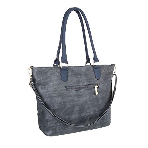 Taschen Handtasche In Used Optik Blau