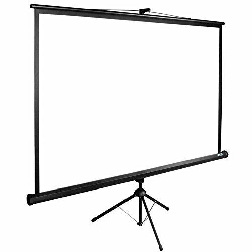 Mobile Stativleinwand | Leinwand für Beamer in Heimkino und Büro | leichter Transport | höhenverstellbar | verschiedene Formate | viele Größen | Format 16:9 | 220x124 cm (Viel Mobile)