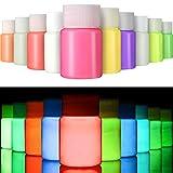 Gejoy 10 Pezzi di Vernice UV per Tessuto, Carta e Bagliore da Parete al Buio, Set Fluorescente per Abbigliamento, Adatto per la Corsa Notturna Fluorescente, Glow Party (10 Colori, 0,7 FL oz / 20 ml)