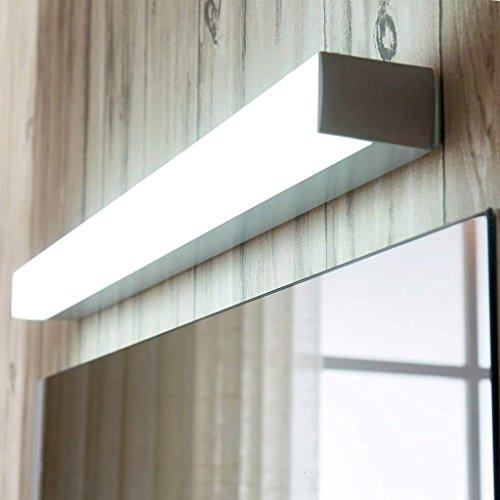 Home Aluminiumlegierung Spiegelleuchte Bad schlichte und moderne Wandleuchte Make-up Led-Spiegel Leuchten (Farbe: Warmes, weißes Licht-10W 50 cm) - Moderne 8-licht Bad Leuchte