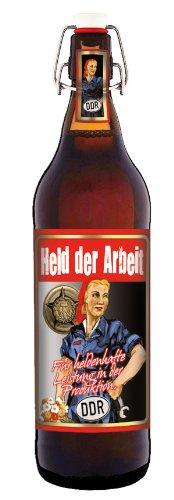 Held der Arbeit - Ostalgie-Bier 1 Liter Flasche mit Bügelverschluss
