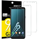 NEW'C Verre Trempé pour Samsung Galaxy A6 (SM-A600F),[Pack de 2] Film Protection écran - Anti Rayures - sans Bulles d'air -Ultra Résistant (0,33mm HD Ultra Transparent) Dureté 9H Glass