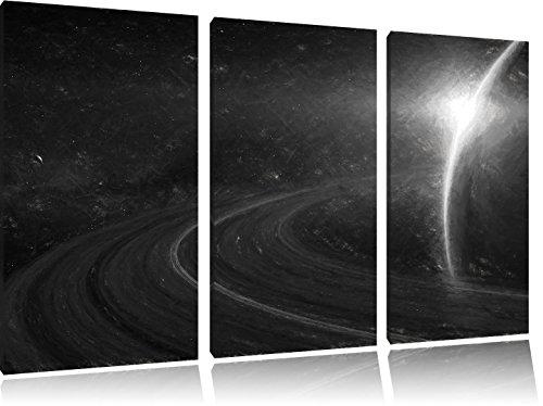 cosmic-planete-saturn-dans-lespace-effet-de-charbon-de-3-pieces-image-toile-120x80-image-sur-toile-x