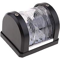 HaoYueDa Yate Mini Pie de Imprenta/Stern, luz de navegación LED Blanco 12V de 2 Millas náuticas