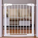 Schmales Baby-Tor Druckmontierte Innensicherungen für Treppen Flur Eingang Weiß Einfach Offen 65-173 cm Breite (größe : Width 77-83cm)