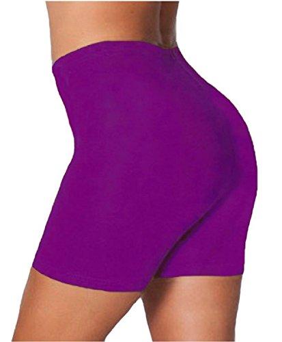 Mesdames coton élasthanne danse Cuissard EUR Taille 36-50 Violet