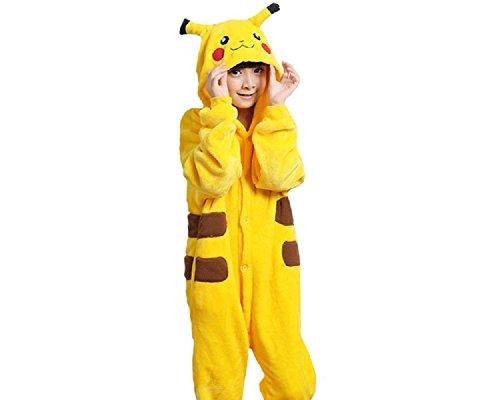 lay Onesie Pikachu L Größe Jumpsuits Pyjama Mädchen Jungen Halloweenkostüm (Ist Pikachu Ein Junge Oder Ein Mädchen)