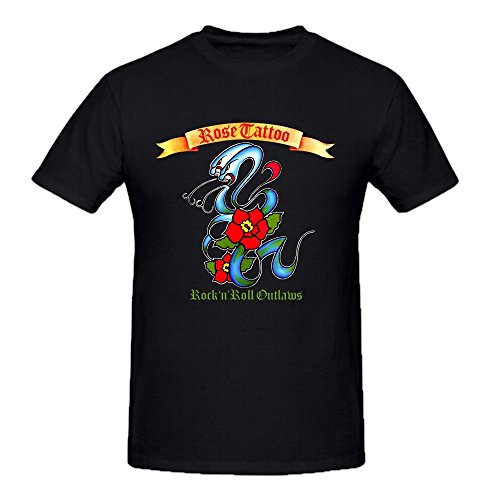 Rose Tattoo Rock N Roll Outlaws Funny Tee Shirts For Herren -