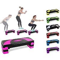 LHY Kitchen Pasos aeróbicos de Fitness Steppers de Altura Ajustable Cardio Ejercicio Steppers para Gimnasio en casa Rutinas de Entrenamiento Entrenamiento,Rosado