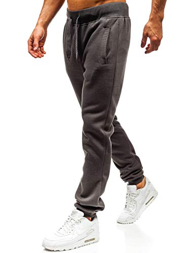 BOLF Herren Sporthose Trainingshose Jogger Sportlicher Stil STEGOL AK70A Dunkelgrau S [6F6]
