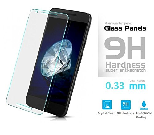 Preisvergleich Produktbild Screen Protector LG Nexus 5X Tempered Glass Hartglas Blickschutz Schutzfolie – Glasfolie Panzerglas Displayschutz Echt-Glas Sicherheitsglas – Handy Panzerfolie Display Protektor – 100% Satisfaction