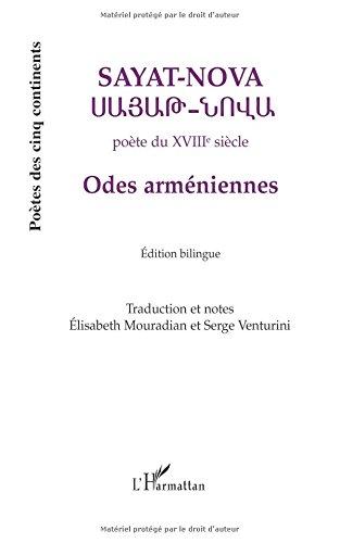 Odes arméniennes : Edition bilingue français-arménien