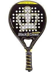 Black Crown Piton 7.0 Soft - Pala de Padel, Adultos Unisex, Negro/Amarillo