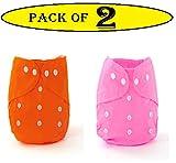 Babymoon (Set of 2) Cloth Diaper Cover Designer Premium Reusable, Adjustable Size, Waterproof