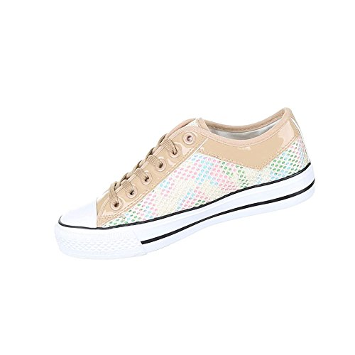 Damen Schuhe Freizeitschuhe Sneakers Beige