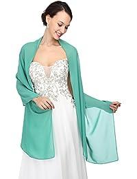 MicBridal - Chal de gasa, para bodas, novia, dama de honor, traje de noche, bailes de graduación y fiestas, 21 colores