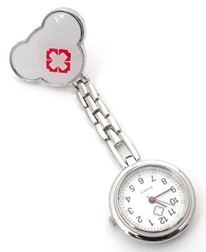 COLJOY Krankenschwester Uhr Pulsuhr Nurse Watch Kitteluhr Taschenuhr Trend Uhren Top Qualität Schwesternuhr Smiley mit Clip Krankenschwesteruhr Kitteluhr Neu! Neu! 1pc Gelb + 1pc...