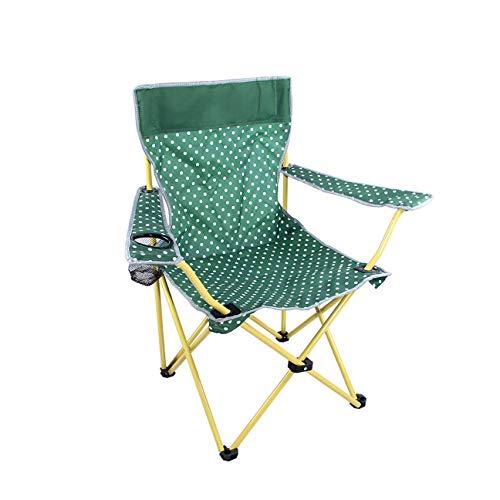 MLX Klappstuhl, faltbar, atmungsaktiv, für den Außenbereich, tragbarer Angelstuhl, Camping, Grill, Gartenstuhl, 50 × 49 × 85 cm, Grün