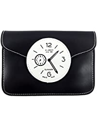 Surbhi Clock Black Sling Bags For Girls Stylish Trendy Funky Crossbody Sling Bag Messenger Sling Bag Mobile Sling...