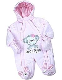 BabyPrem Bébé Combinaison De Neige Ski Filles Garçons Hiver Vêtements Singe 0 - 6 Mois (50-68cm)