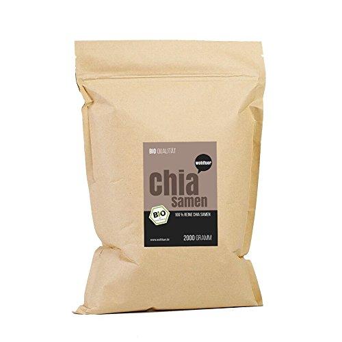 Wohltuer Bio Chia-Samen 2000g I Auf Wunsch senden wir Euch gerne die aktuelle Laboranalyse zu! Unser Bio Chia Samen ist von ausgezeichneter Qualität!