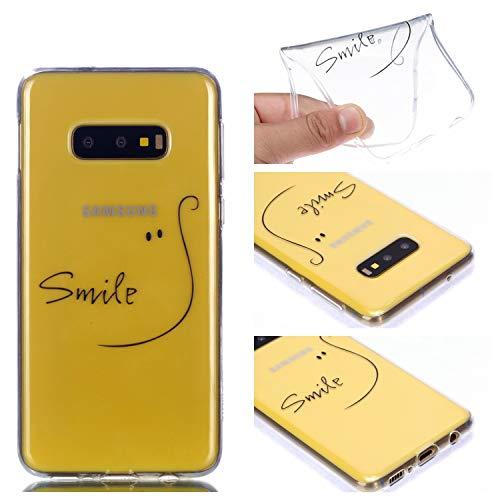 Gel Klar Transparent für Samsung S10e,Weich Gomma TPU Silikon Durchsichtiges Bunte Flower Cartoon Ultra Dünn Slim Kreative icht Anti-Rutsch Flexible Schutz Handy Hülle Tasche Etui Bumper
